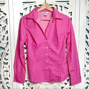 Vintage Lilly Pulitzer Pink Polka Dot Button Up